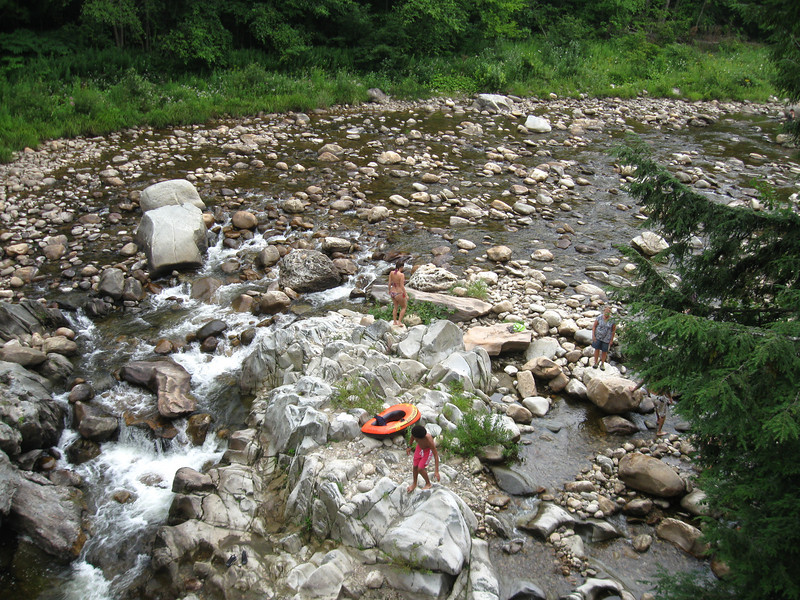 Mill River - a great spot for a post-hike bath.