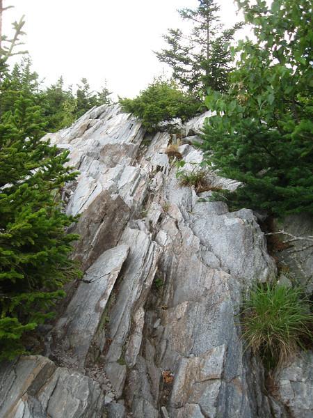 The last little bit of the climb up Baker Peak.