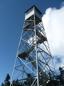 Fire tower at the summit of Stratton Mountain