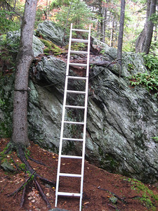 """This is what you see when the trail description says """"Reach ladder on steep ledge."""""""