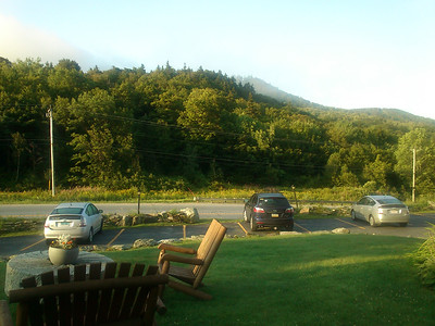 Saturday morning - the view of Pico from our room at the Inn at Long Trail.