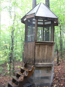 The old Cloudland privy - relocated to the Thistle Hill Shelter.  A Dartmouth Outing Club work of art.