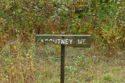 The Ascutney Mountain sign has seen better days.