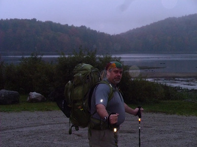Part 2 - Just Jeff and Tim from VT Route 100 up to Hanover NH.  Stalking Tortoise at Kent Pond on a wet Saturday morning.