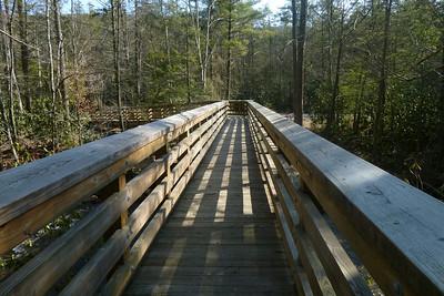 Sturdy high-water bridge over Stony Creek.