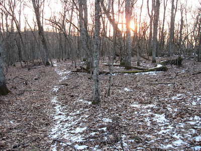Strong winds and cool temperatures made for a chilly morning hike.