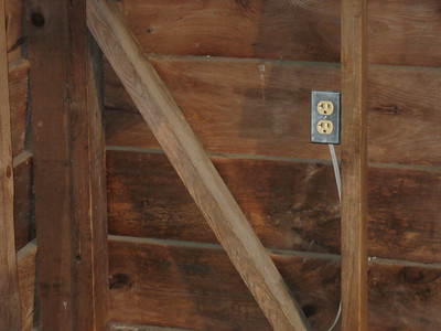 A prankster installed (non-functional) outlets in both the Rice Field and Bailey Gap Shelters.