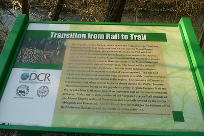 Creeper Trail DCR Sign