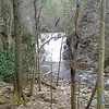 First view of Laurel Fork Falls
