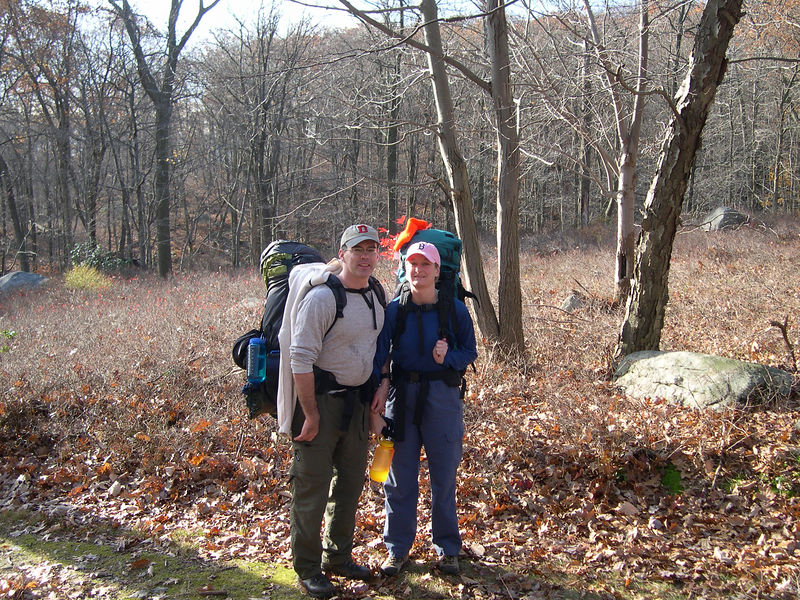 Mike & Shannon on their maiden backpacking trip