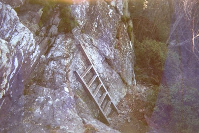 The ladder took all the fun out of this escarpment