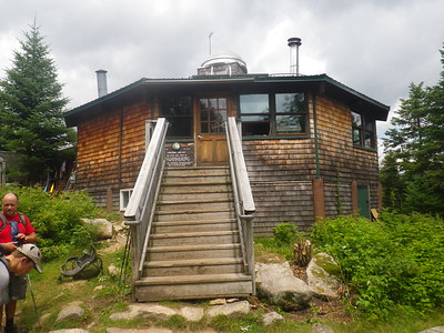 The Lonesome Lake Hut.  $139 / night gets you dinner, a bunk, and breakfast the next morning.  This is the southern-most hut run by the Appalachian Mountain Club in the White Mountains.