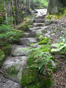 More stone steps