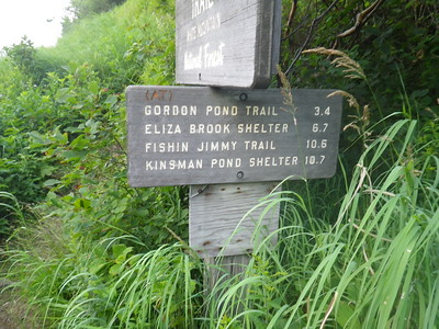 False advertising - the Eliza Brook Shelter is 7.5 miles from Kinsman Notch.