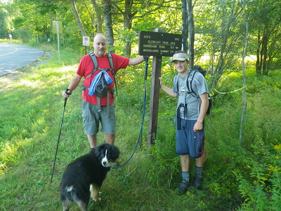 Smoking Sox, Adam and Maggie.  Only 3.9 miles and 3322 feet to the summit of Moosilauke.