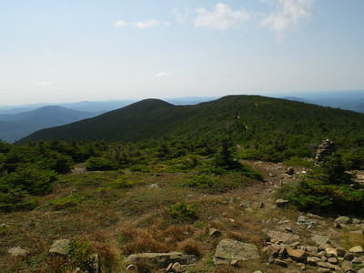 Looking back to the south and middle peaks of Moosilauke