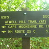 The start of my catch-up hike on Saturday morning - NH Route 25A.