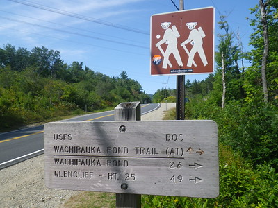 The start of Phase II for Saturday's hike - NH Route 25C to NH Route 25.
