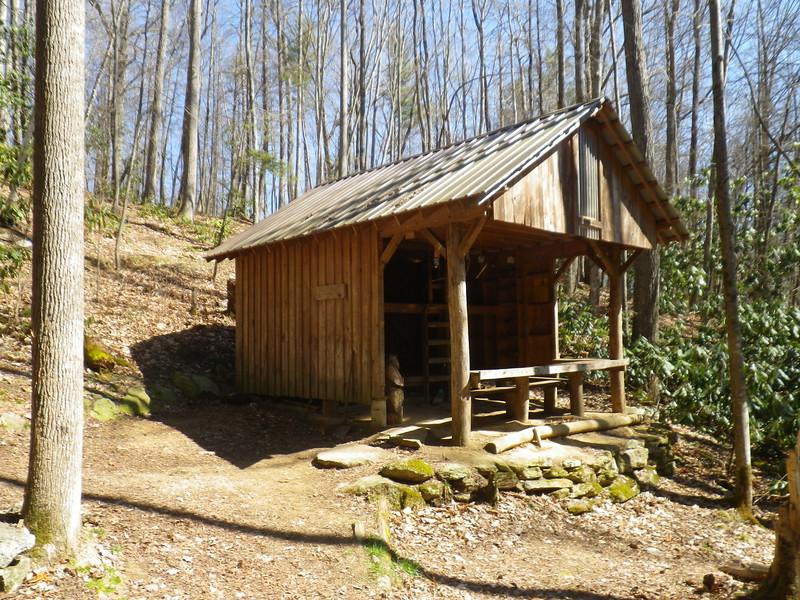 Mountaineer Falls Shelter - a good lunch spot.