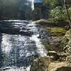 Jones Falls.  The sun was directly above the falls, making for difficult photography.