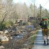 The last 0.4 miles of road walking to the Black Bear Resort