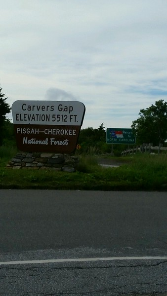 July 2nd - back to Carvers Gap to finish my skipped 14.8 mile section with Bretta
