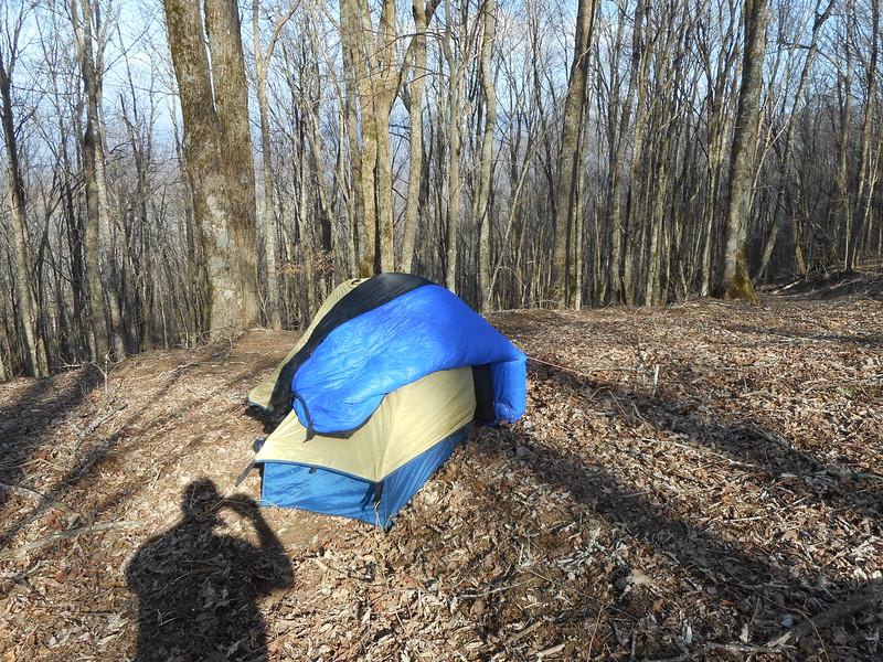 Sox's campsite near Ash Gap on Tuesday night