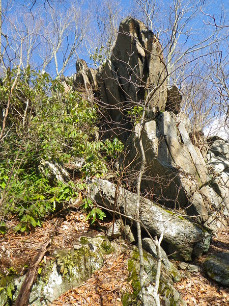 High Rocks at the top of Saturday's last climb