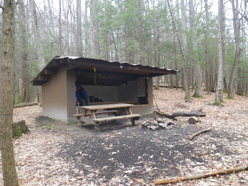 No Business Knob Shelter - just a quick lunch stop before pushing onward to Erwin