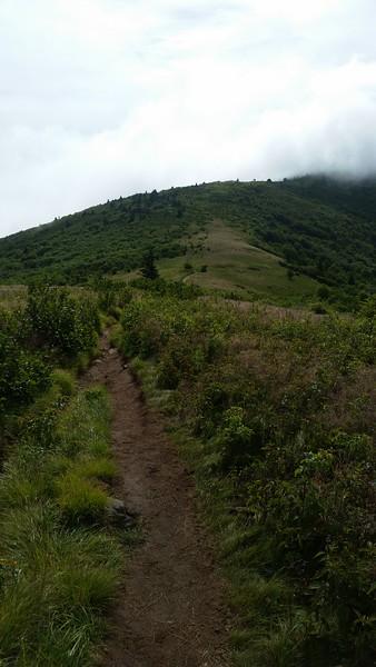 Grassy Ridge is still socked in by clouds