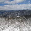 Beautiful winter views east from the gap below Lick Rock