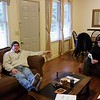 Lounging in the living room of the Officer's Bungalow - our base camp for four days.