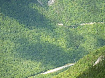 Railroad trestle bridge for the Conway Scenic Railroad Notch Tour