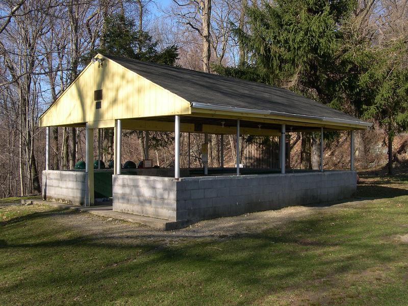 The Graymoor ballfield pavillion / shelter