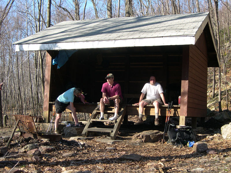 Wildcat Shelter - a welcome sight after a tough day of hiking
