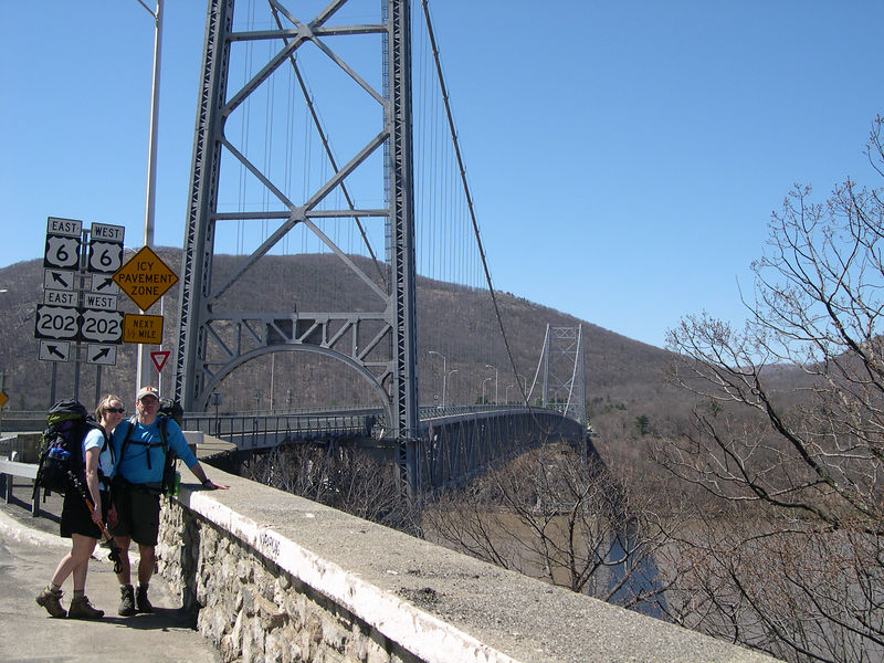 Mike & Shannon at the Mid-Hudson bridge (Bear Mountain is in the background)