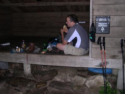 Smoking Sox having lunch at the Morgan Stewart Memorial Shelter