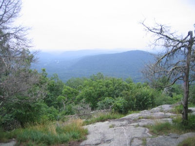 A hazy view from Schaghticoke Mountain just before twilight