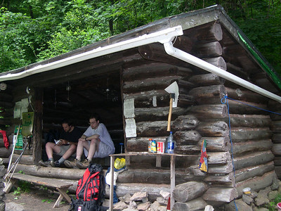 Lunch at the happenin' Wiley Shelter - the hangout spot for Thru Hikers, Section Hikers and Day Hikers