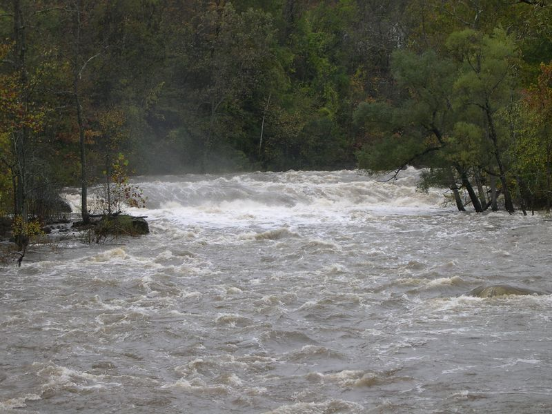 The fury of the river is unmistakable
