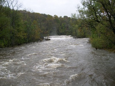 The turbulence of the Housatonic viewed from the iron bridge