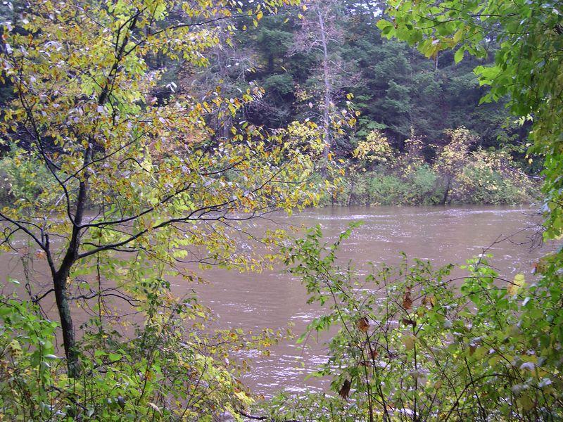 Still waters run deep - the Housatonic just below Great Falls