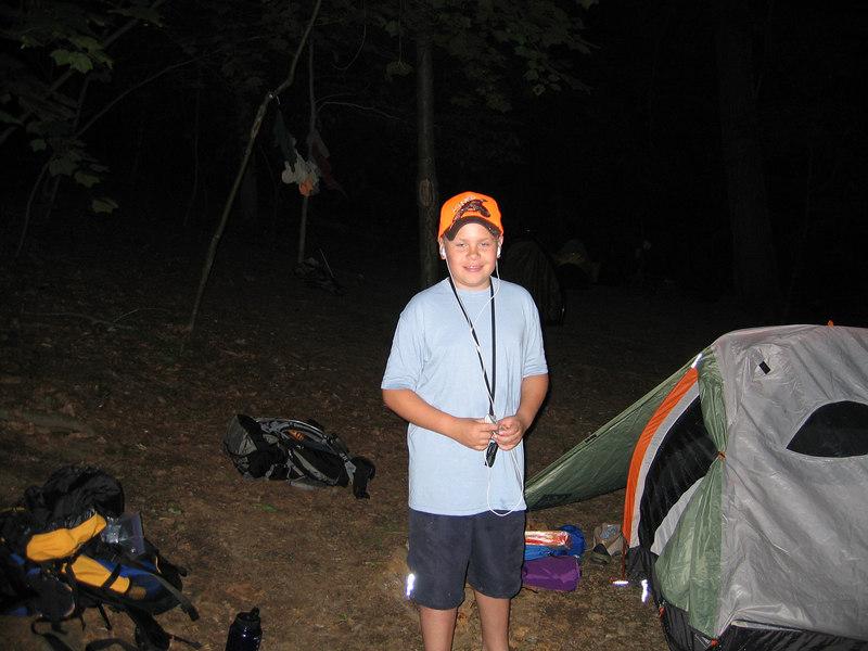 JJ rockin' out at the Plateau Campsite