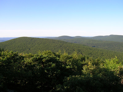 Looking south towards Mount Race, Bear Mountain and Lion's Head