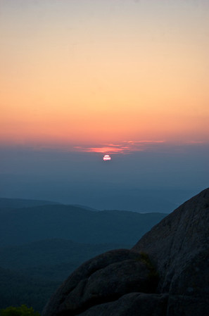 Sunrise from the summit of Black Mountain Lake George Wild Forest Preserve, Adirondack State Park, NY