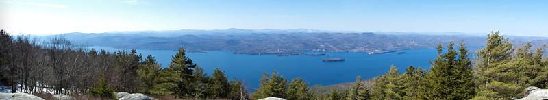 Buck Mountain Summit - ~2300ft, Spring 2012 Overlooking Lake George, Adirondack State Park