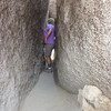 I can't believe that we fit through!!  Hidden Valley trail on South Mountain