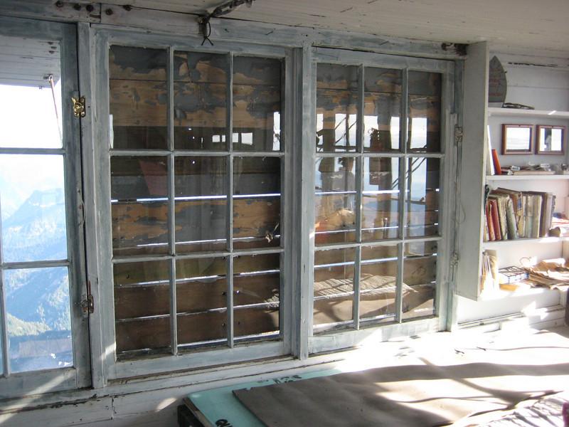 east side, SE corner, shutters. boards have large (