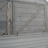 S side shutters towards ladder: needs urgent repaint from the outside