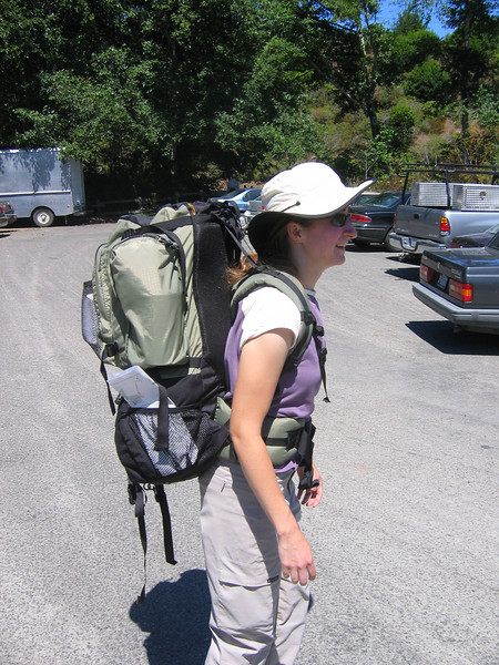 Loaded up with our packs. We did really well for our first packing trip. I'd say we only overpacked with a few items.